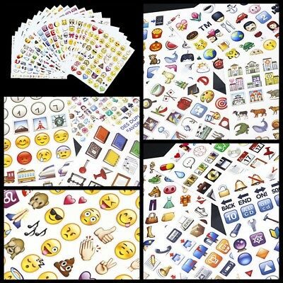 New Emoji Smile Face Stickers Pack Decor Stickers for Notebook Bookes Stickers