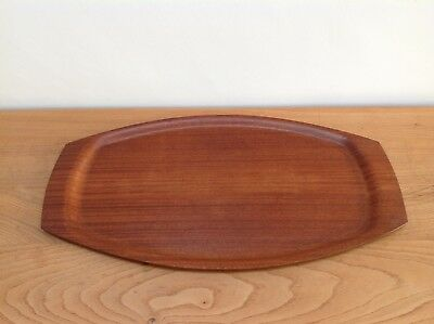 Vintage Mid Century Denmark Teak Bent Ply Wooden Serving Tray 60 S