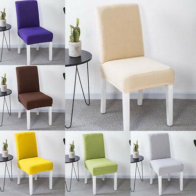 Stretch Dining Room Wedding Kitchen Home Short Chair Seat Covers