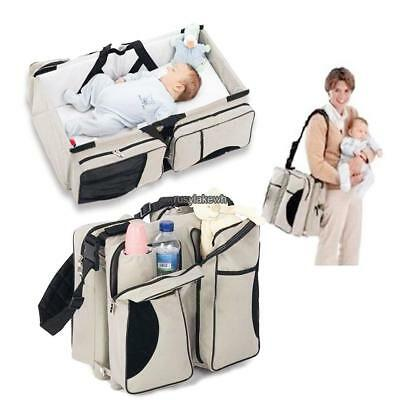 Baby Infant Travel Bassinet Diaper Tote Bag Nappy Changing Station RLWH