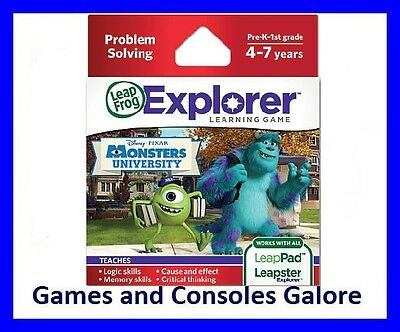 NEW Leap Pad Ultimate Game, GS LeapPad Game Monsters University Inc
