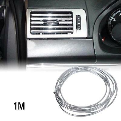 100cm/39inch U Style Chrome Air Conditioner Outlet Vent Trim Strip Auto Hot !