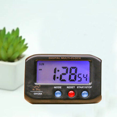 Digital LCD Alarm Clock Thermometer Radio Controlled Humidity Time Calendar