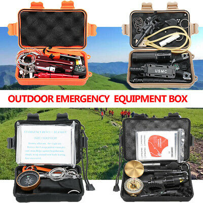 Outdoor Emergency Survival Equipment Kit Travel Tactical Hiking Camping SOS Gear