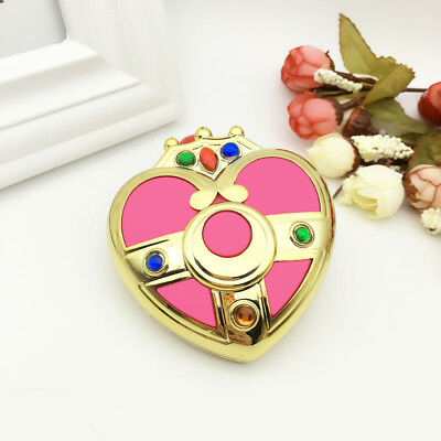 Sailor Moon Compact Portable Cosmetic Heart Mirror Make Up Case Cosplay with Box