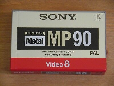 SONY Metal MP90 Video8 8mm Camcorder Tape - Sealed New