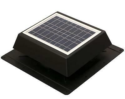 Natural Light Solar Attic Fan SolarCozi 10W ABS Housing Solar Powered Fan