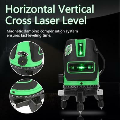 2/3/5 Line Cross Green Laser Level 360° Rotary Auto Self-Leveling Measure Tools
