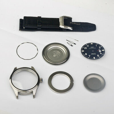 PILOT's WATCH Case MARK XVII 17 black sapphire dial fit ETA 2824 2892a2 movement