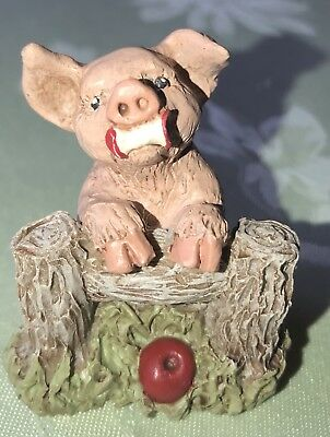 "All God's Children ""PETUNIA"" 2005, Very Rare, Martha Holcombe Pig Club Piece"