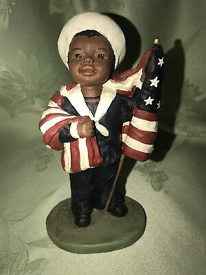 ALL GOD'S CHILDREN BILLY FIGURINE #34 BLACK AMERICANA w/CERTIFICATE HOLCOMBE