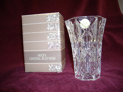 Avon Crystal 24% Lead Crystal Bud Vase Rare - New In Box
