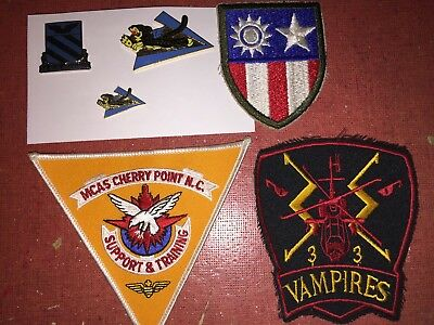 Aviation Patches US Cherry Point NC Vampires CBI Patch Flying Tigers