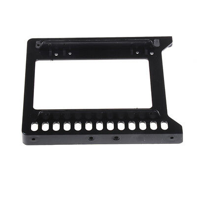 """Adapter 2.5"""" to 3.5"""" hard drive plastic bracket hdd holder mounting ssd black WQ"""