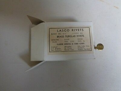 Lasco Rivets Brass Tubular Fasteners  Length 10/16 Body 3/16 Head 1/2 100 Count