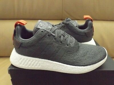 Adidas NMD R2 Men s Shoes Size 9.5 Grey Future Harvest White Boost BY3014 ( NEW) 53905054b442