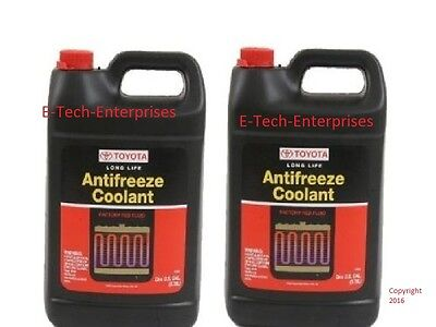 2 Gallons Genuine Toyota Long Life Red Engine Coolant Antifreeze for Lexus New