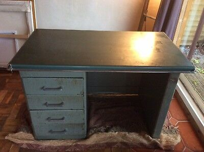 Vintage Metal Desk Retro Industrial stunning Collect Free Delivery Stunning