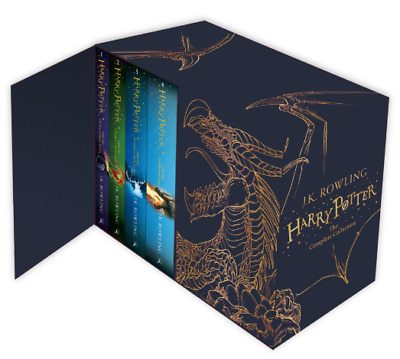 Harry Potter Box Set: The Complete Collection Children's by J. K. Rowling (Blue)