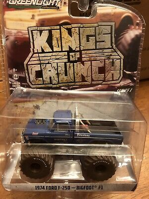 Greenlight Kings Of Crunch BIGFOOT #1  Monster Truck 1974 Ford F-250 Muddy