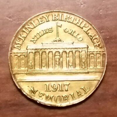 1917 McKinley Memorial Commemorative Gold Dollar $1