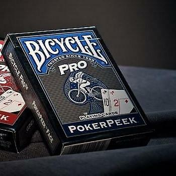 Pro Peek Poker Playing Cards Blue Bicycle Professional