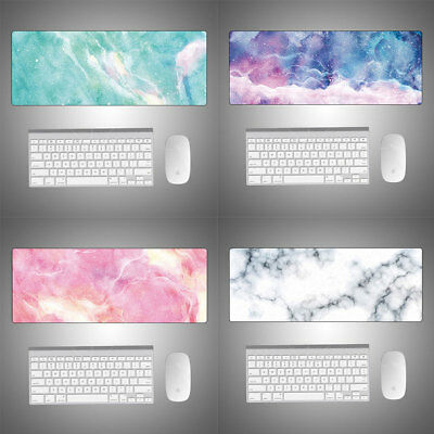 Marble Color Large Mouse Pad Game Laptop Computer Keyboard Desk Mat 800*300mm