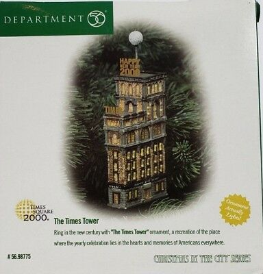 Dept 56 Christmas In the City The Times Tower Ornament Mint In Box 98775