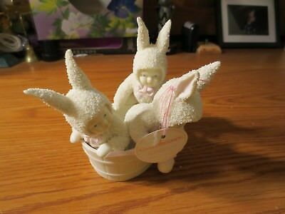 Dept 56 Snowbunnies Rub A Dub -Dub 3 Bunnies In A Tub