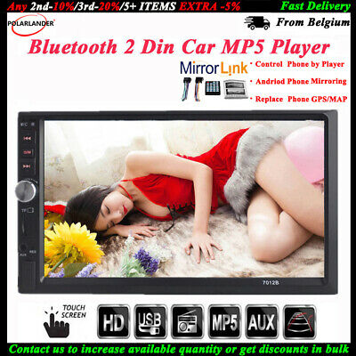 7'' 2 DIN Touch Screen Car Radio USB/TF/AUX/FM/Remote Stereo MP5 Bluetooth Audio