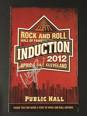Rock and Roll Hall Of Fame 2012 Program Signed By Dizzy Reed Guns N' Roses PROOF