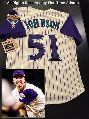 ebc5271c switzerland new randy johnson arizona diamondbacks mens cream 1999 2002  style retro jersey b6261 76dd6