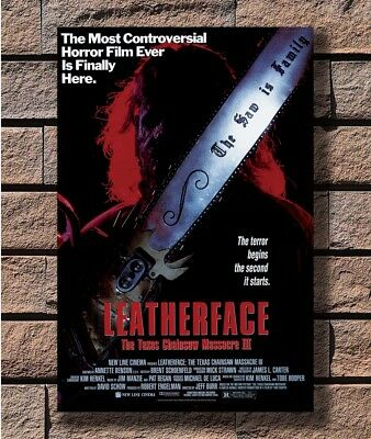 LEATHERFACE- The TEXAS CHAINSAW MASSACRE III 3 Movie Horror Poster 24x36 E-1811
