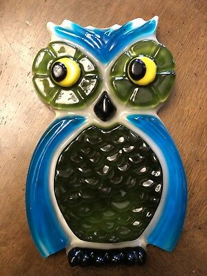 Vintage Lucite Resin Owl Wall Hanging