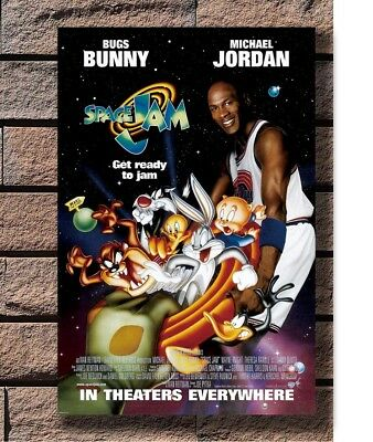 SPACE JAM MOVIE POSTER 1 Sided ORIGINAL Rolled Ver Poster Fabric 30 24x36 E-2125