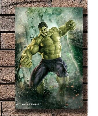 Hulk - The Avengers Marvel Superheroes Movie Poster Fabric 12 20x30 24x36 E-2581