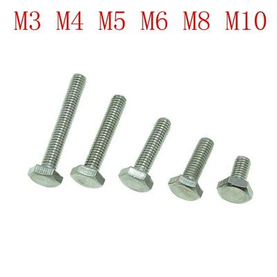 M10 M5 M6 M8 M12 HEX HEAD SET SCREW BOLT -A2 STAINLESS FULLY THREADED DIN933