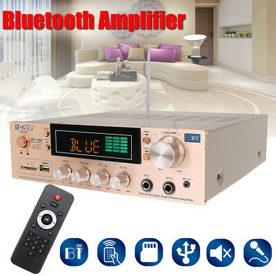 800W Bluetooth Powerful Audio Stereo Receiver Amplifier Home Music AMP FM USB