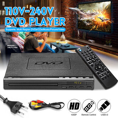 DVD Player USB Port Multiple Playback Multi-angle Viewing With Remote