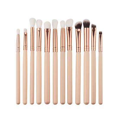 12x Makeup Brushes Set Foundation Powder Eyeshadow Eyeliner Lip Brush Tool ^@^