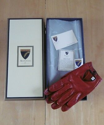 9fa7bd7b7e3c8 Vintage Aspinal Of London Ladies Red Nappa Leather Driving Gloves Size 7  (Boxed)