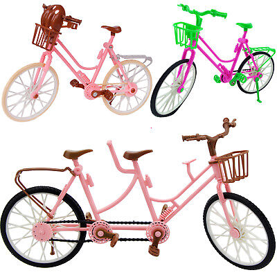 1:6 Sport Pink Green Bike Bicycle For Barbie Ken 12in. Doll Outdoor Accessories