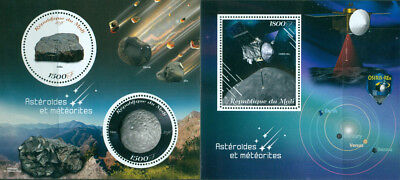 Asteroids And Meteorites Space Objects Osiris Spacecraft Mali 2018 Mnh Stamp Set