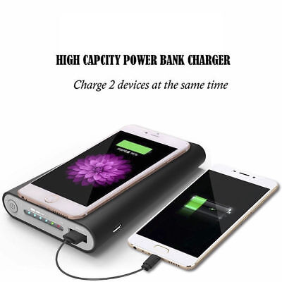 Wireless 500000mAh Power Bank Charger Kit For Phone Dual USB External Battery