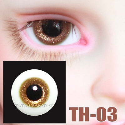 TATA glass eyes TH-03 14mm/16mm for BJD SD MSD 1/3 1/4 size doll use gold-brown