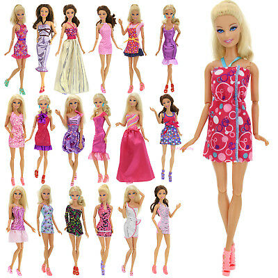 10x Fashion Dress Wedding Party Skirt Accessories Clothes For Barbie Doll Gift