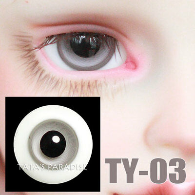 TATA glass eyes TY-03 16mm for BJD SD MSD 1/3 1/4 size doll use grey