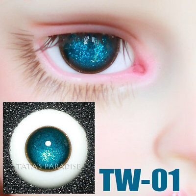 TATA glass eyes TW-01 14mm/16mm for BJD SD MSD 1/3 1/4 size doll use star blue