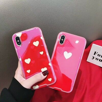 7371240da2 For iPhone X XS MAX XR 7 8Plus 2 in1 Korean Style Couple Concise Love Laser