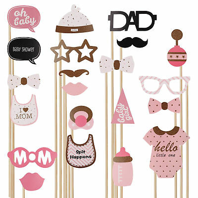 20pcs Baby Shower Photo Booth Props Little Boy Mister New Born Party Decoration